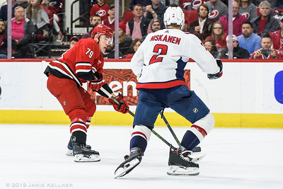 March 28, 2019. Carolina Hurricanes vs. Washington Capitals, PNC Arena, Raleigh, NC. Copyright © 2019 Jamie Kellner. All Rights Reserved.