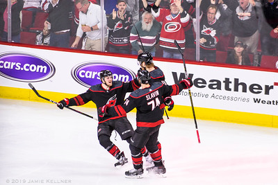 April 15, 2019. Carolina Hurricanes vs. Washington Capitals, Game 3 Stanley Cup Playoffs Round 1, PNC Arena, Raleigh, NC. Copyright © 2019 Jamie Kellner. All Rights Reserved.
