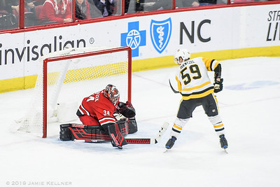 March 19, 2019. Carolina Hurricanes vs. Pittsburgh Penguins, PNC Arena, Raleigh, NC. Copyright © 2019 Jamie Kellner. All Rights Reserved.