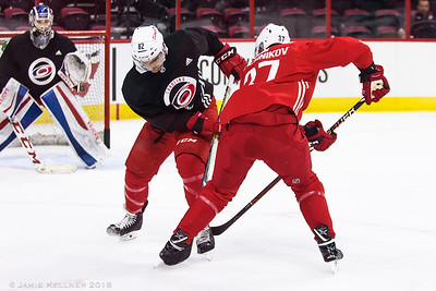 June 27, 2018. Carolina Hurricanes Prospect Camp, PNC Arena, Raleigh, NC. Copyright © 2018 Jamie Kellner. All Rights Reserved.