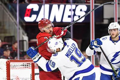 September 18, 2019. Carolina Hurricanes vs Tampa Bay Lightning, PNC Arena, Raleigh, NC. Copyright © 2019 Jamie Kellner. All Rights Reserved.
