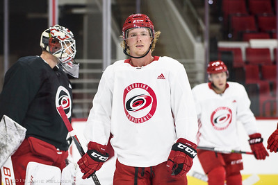 September 13, 2019. Carolina Hurricanes Training Camp, PNC Arena, Raleigh, NC. Copyright © 2019 Jamie Kellner. All Rights Reserved.