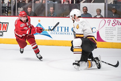 April 20, 2017. Charlotte Checkers vs Chicago Wolves, Bojangles Coliseum, Charlotte, NC. Copyright © 2017 Jamie Kellner. All Rights Reserved.