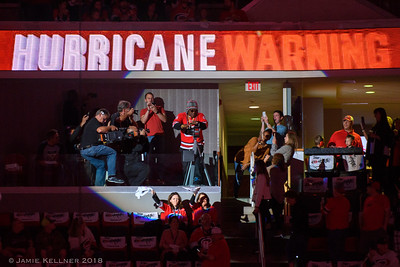 October 4, 2018. Carolina Hurricanes vs. New York Islanders, PNC Arena, Raleigh, NC. Copyright © 2018 Jamie Kellner. All Rights Reserved.