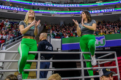 December 23, 2018. Whalers Night, Carolina Hurricanes vs. Boston Bruins, PNC Arena, Raleigh, NC. Copyright © 2018 Jamie Kellner. All Rights Reserved.