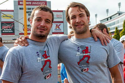 This is one of my favorite photos ever. I just love these guys. Chad LaRose and Tuomo Ruutu.  Friesen 5k Fun Run.  September 12, 2010.  Copyright © 2010 Jamie Kellner.  All rights reserved.