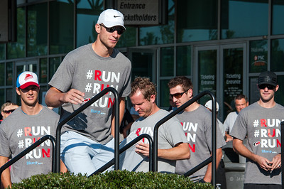 Jordan Staal. September 8, 2013. Canes 5k benefitting the Carolina Hurricanes Kids 'N Community Foundation, PNC Arena, Raleigh, NC. Copyright © 2013 Jamie Kellner. All rights reserved.