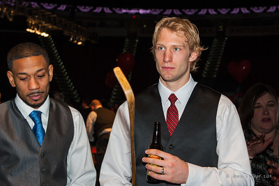 Jordan Staal. February 1, 2014. Carolina Hurricanes Casino Night and Wine Tasting, benefitting the Kids 'N Community Foundation, PNC Arena, Raleigh, NC.  Copyright © 2014 Jamie Kellner. All Rights Reserved.