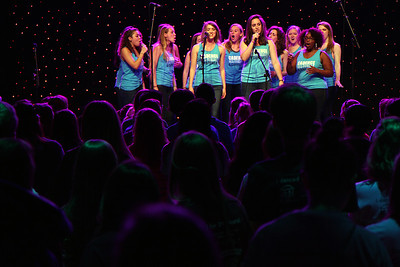 Students danced and stood for 24 hours to raise money for medical, surgical and emotional care of children and families served by North Carolina Children's Hospital. The 24-hour marathon began in Fetzer Gym on Mar. 21, 2014 and continued through Mar. 22.