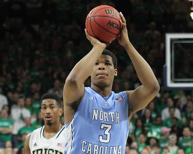 The UNC men's basketball team beat Notre Dame on Saturday, February 8.
