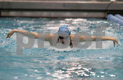 Hannah Runyon-Hass swims the Women's 200 Yard Butterfly.