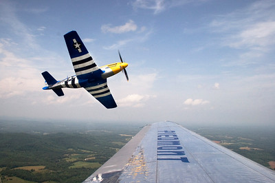 North Wilkesboro Fly-In - From the window of the Piedmont DC-3 returning to Charlotte