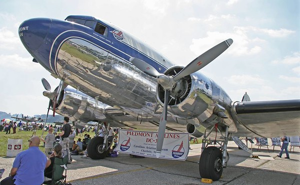 Piedmont DC-3 at Elkhart, IN Airshow, July 30, 2005