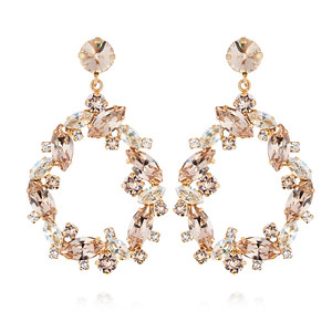 BRIDAL -  Million Reason Earring / Crystal + Silk