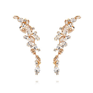 BRIDAL -  Marry Me Earcuff / Crystal + Silk