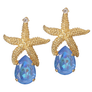 Sea Star Drop Earrings / Ocean Blue Delite