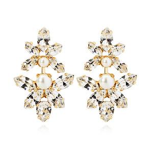 BRIDAL -  Love Me Forever Earring / Pearl + Crystal