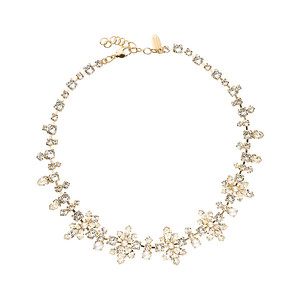 BRIDAL -  La Vie En Rose Necklace / Pearl + Crystal