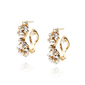 BRIDAL -  So In Love Earring / Crystal + Pearl