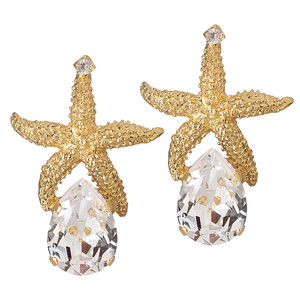 Sea Star Drop Earrings / Crystal