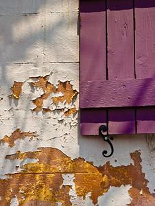 "' Purple Shutter ' Charlestown, SC  12""x16"", Luster paper (12 mil)"
