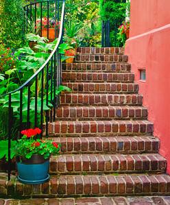 """' Garden Entry'' Charleston, SC  12""""x16"""", Luster paper (12 mil)"""