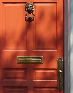 """' Red Door - Meeting Street ' Charleston, SC  12""""x16"""", Luster paper (12 mil)"""