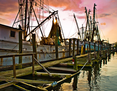 """' Fleet Dock' Georgetown, SC  12""""x16"""", Luster paper (12 mil) limited edition of 50"""