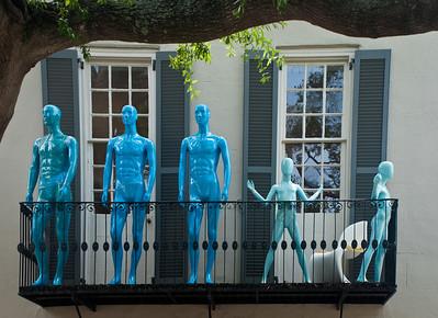 "' Blue Man Balcony ' Charleston, SC  12""x16"", Luster paper (12 mil)"
