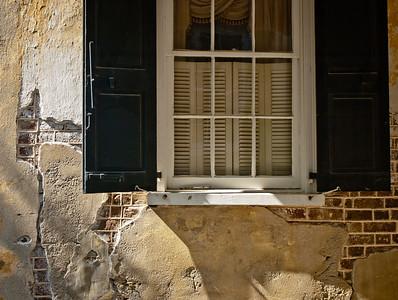 "'  Shuttered Window  ' Charleston, SC  12""x16"", Luster paper (12 mil)"