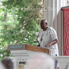 """Rev. Gerald Durley delivers his lecture """"Protecting and Serving the Planet Matters"""" at 2 P.M. on Friday, July 29, 2016, at the Hall of Philosophy. Durley said that the Rev. Otis Moss, this week's Morning Worship leader, was one of his former students. Photo by Carolyn Brown.<br /> <br /> Photo by Carolyn Brown."""