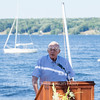 Richard Turney speaks July 23, 2016, at the Turney Sailing Center during a gathering honoring the center's tenth anniversary.<br /> <br /> Turney was the original donor to the Turney Sailing Center. <br /> <br /> Photo by Carolyn Brown.