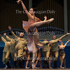 """Rheya Shano, center, dances in a piece entitled """"Nightwatch,"""" choreographed by Mark Diamond, in the Chautauqua Dance Student Gala at 2:30 PM on July 17, 2016, in the Amphitheater. The show featured the Chautauqua Festival and Workshop Dancers from the School of Dance. Photo by Carolyn Brown."""
