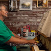 """Carolyn Benton, chimemaster of the Miller Bell Tower, plays """"Old Folks at Home"""" at 6 P.M. on Wednesday, August 24, 2016, in the Bell Tower. Benton, who has been chimemaster of the Bell Tower for 15 years, plays requests, (often a mixture of hymns, patriotic tunes, and showtunes) for Chautauquans who visit the Bell Tower. """"This is the best job on the grounds,"""" said Benton. """"This is the best job in the world!"""" Photo by Carolyn Brown."""