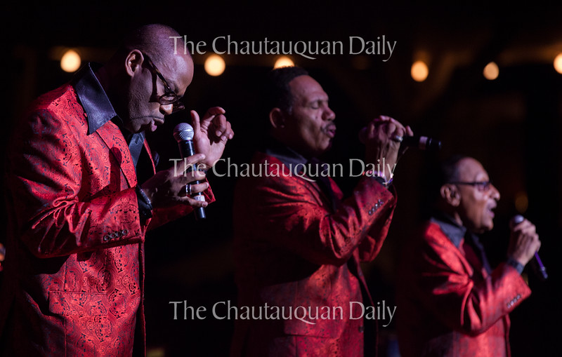 Members of the Four Tops perform at the Amphitheater on Saturday, June 25. The show, which was a joint performance with The Temptations, had a sold-out crowd in which many audience members sang along and danced in their seats.