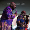 Left to right: Otis Williams and Larry Braggs perform at the Amphitheater on Saturday, June 26. The show, the first Saturday evening entertainment program of the season, also featured The Four Tops and played to a sold-out crowd.
