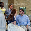 "From left: mezzo-soprano Tesia Kwarteng, tenor Anthony Ciaramitaro, soprano Margaret Bridge, and baritone Jake Skipworth perform in the Chautauqua Opera's event ""Hojo-To-Jo! To the Opera We Go!"" at 5 PM on July 19, 2016, at Smith Wilkes Hall.<br /> <br /> <br /> The show is in its third year of production at Smith Wilkes. Photo by Carolyn Brown."