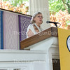 Dorrie Fontaine, Dean of the School of Nursing at the University of Virginia, delivers a lecture as part of the Contemporary Issues Forum at 3 PM on July 9, 2016, at the Hall of Philosophy. In her lecture, Fontaine discussed the crises of overwork and burnout amongst healthcare professionals in America. Photo by Carolyn Brown.
