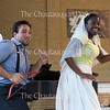 "Tenor Anthony Ciaramitaro, left, and mezzo-soprano Tesia Kwarteng, right, perform ""Séguedille"" by Offenbach's ""La Périchole"" at the Chautauqua Opera's event ""Hojo-To-Jo! To the Opera We Go!"" at 5 PM on July 19, 2016, at Smith Wilkes Hall.<br /> <br /> At the event, Ciaramitaro, Kwarteng, and other members of the Chautauqua Opera Young Artist class of 2016 introduced children to opera by performing famous arias, teaching them opera vocabulary, and involving the audience in the show. Photo by Carolyn Brown."