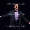 """On June 20, 2016, Bass-baritone Ryan Stoll sings """"La vendetta,"""" an aria from Mozart's """"La Nozze di Figaro,"""" in Norton Hall. Stoll is one of fifteen Studio Artists in the 2016 class of Chautauqua Opera Young Artists."""