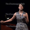 """Soprano Chelsea Miller, one of the Chautauqua Opera's Apprentice Artists, performs """"Caro nome"""" from Verdi's """"Rigoletto,"""" in Norton Hall on June 20, 2016. Miller is one of eight Studio Artists in the 2016 class of Chautauqua Opera Young Artists."""