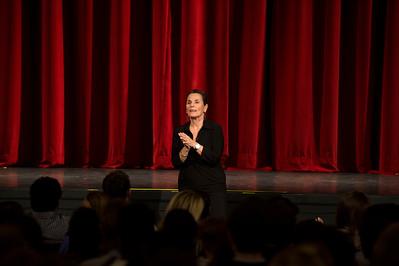 Carolyn Dorfman Dance performs during Morning Meeting