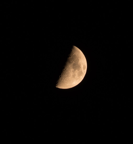 """Summer 9. This moon photo should go with the poem beginning: """"The moon illumined:"""" I can't guarantee that this will reproduce well, given the distance and cropping."""