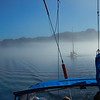 In Johnstone Strait with the fog lifting