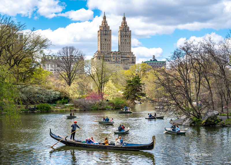 Boats in New York's Central Park