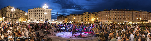 The 1000 Streets' Orchestra performs in Trieste, Italy