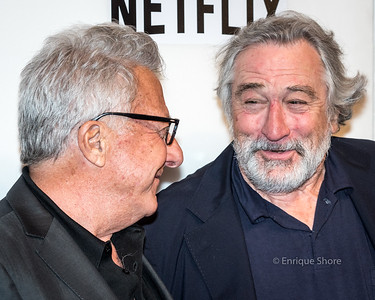 Hoffman and De Niro at the 2017 Tribeca Film Festival in New York