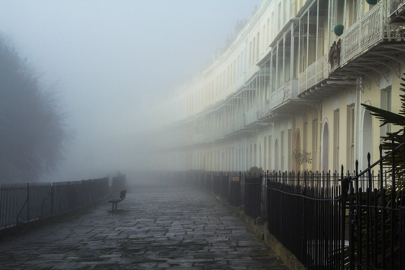 Clifton Terrace in Mist