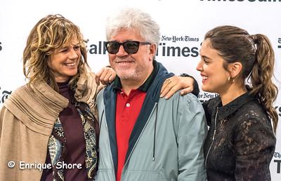 Spain's Suarez, Almodovar and Ugarte pose in New York