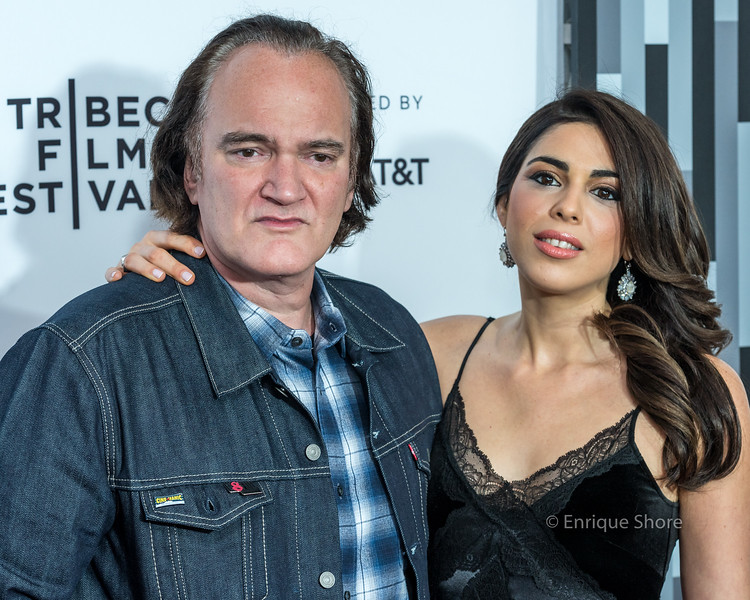 """Tarantino and  Pick attend 'Reservoir Dogs"""" 25th anniversary screening at the 2017 Tribeca Film Festival"""